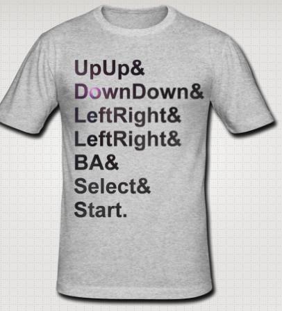 Konami tshirt design